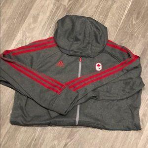 XL Adidas Canada Zip-up Sweatshirt